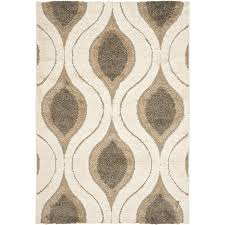 tropical area rugs. Safavieh Arcell Shag Cream/Smoke Indoor Tropical Area Rug (Common: 11 X 15 Rugs D