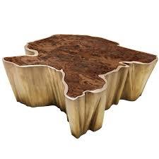 Organic Modern Furniture Brabbu Walnut And Brass Organic Modern Coffee Table Fifty Shades