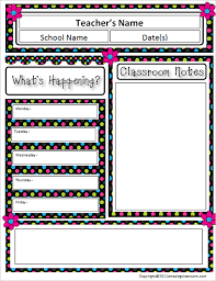 Teachers Newsletter Templates 12 Awesome Classroom Newsletter Templates Designs Free