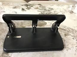 Vintage office desk Wooden Image Is Loading Heavyduty3holepunchvintageofficedesk Heavy Duty Hole Punch Vintage Office Desk Props Black Ebay