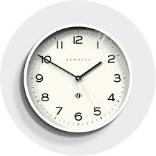 large modern white kitchen wall clock newgate echo number one 149pw homeware