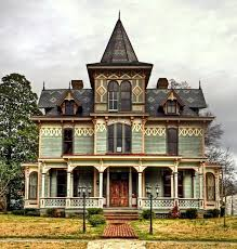 Symmetry & detailed roof design. | Victorian homes, Victorian style homes,  Mansions