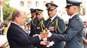 Image result for الرئيس عون في احتفال تخريج ضباط فجر الجرود: