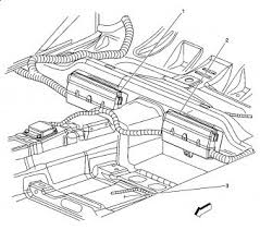 2005 cadillac sts fuses electrical problem 2005 cadillac sts 6 two boxes in rear see diagram