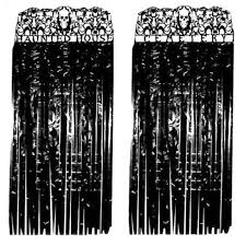 graveyard haunted house door entrance curtain black y party prop