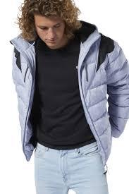 Пуховик Reebok <b>Cl Down Mid Jacket</b> DY6001, цвет серо-голубой ...