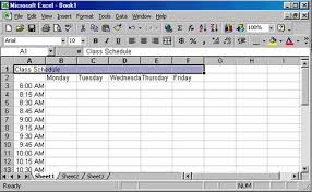 Timetable Creator Creating A Class Schedule Using Excel