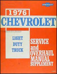 1976 chevy gmc g van wiring diagram original 1976 chevy 10 30 truck repair shop manual supplement pickup blazer suburban van step van p chassis