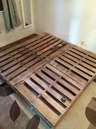 pallet king size bed king size pallet bed stuff i built pinterest king size