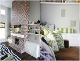 gallery of modern brick fireplace