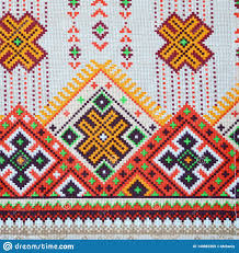 History Of Fabric Design Traditional Ukrainian Folk Art Knitted Embroidery Pattern On
