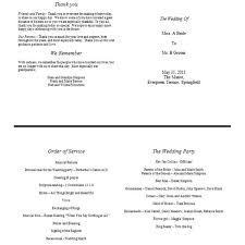 wedding party program templates sample of a wedding program format free template to download