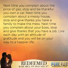 Christian Gratitude Quotes Best Of Encouragement Gratitude Pure Flix Christian Movies Christian