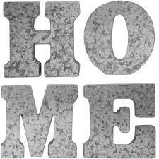 10x10 4 piece galvanized home letters