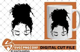 You can sign up to my mailing list and download strong black woman digital vector files featuring african american woman in svg, png, eps, dxf and jpg format. Messy Bun Svg High Bun Svg Curly Hair Svg Black Woman Svg 645896 Cut Files Design Bundles