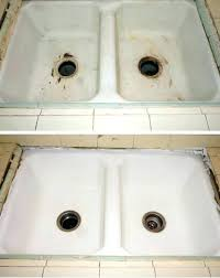 kitchen sink reglazing porcelain refinishing resurface perfect kitche