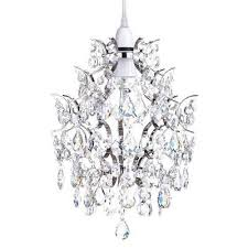 decorative easy fit ceiling light fitting chandelier shade in nickel litecraft