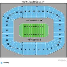 Seating Chart For War Memorial Stadium In Little Rock Seating War Memorial Slubne Suknie Info
