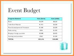Budget Proposal Template Printable Project Free Word