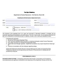 Simple Employee Review 11 Employee Appraisal Form Templates In Google Docs Word