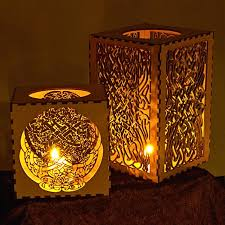 candle lantern celtic knot pattern light boxes laser cut from mdf