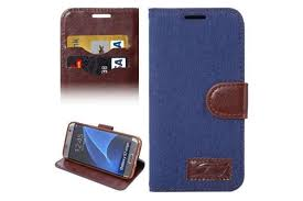 for samsung galaxy s7 edge wallet case denim leather cover dark blue kogan com