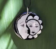 sun and moon pendant hippie gypsy