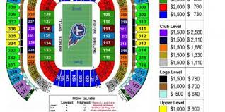 Nissan Stadium Seating Chart With Rows Nissan Stadium Map Map Of Nissan Stadium Tennessee Usa