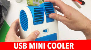 <b>USB Mini</b> Air <b>Cooler</b> - Personal Air Conditioning? HB-168 Desktop fan!