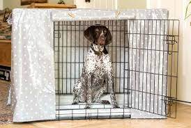 How to make a dog crate Pet Kennel Dog Crate Covers Dog Crate Cover In Grey Spot Oil Cloth By Hidey Hidey Diy No Dog Crate Madewithmagicco Dog Crate Covers How To Make Dog Crate Cover Without Pattern Its