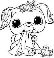 Cute And Sweet Littlest Pet Shop Coloring Pages Illustration