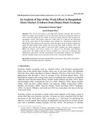 Dse Index Chart Pdf An Analysis Of Day Of The Week Effects In Bangladesh