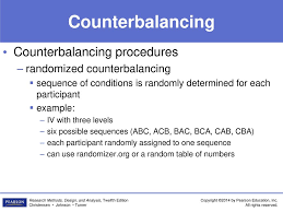 Counterbalance Research Design In Psychology 7 Control Techniques In Experimental Research Ppt Download