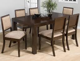 seven piece dining set: luxury dining room design with oversized wooden table and six piece