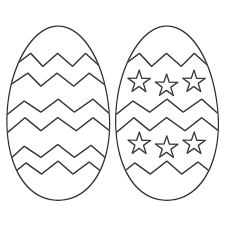Printable Coloring Easter Eggs L