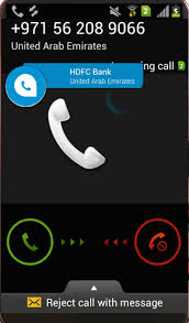 hdfcbank incoming call showing fake hdfc bank example in our case on