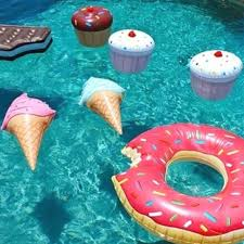 1Pcs Fun Toys Swim Ring Ice Cream Pool Float Water Shaped Inflatable