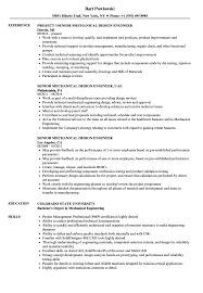 Senior Mechanical Design Engineer Resume Samples Velvet Jobs
