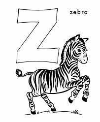 Small Picture ABC Alphabet Coloring Sheets Z is for Zebra HonkingDonkey