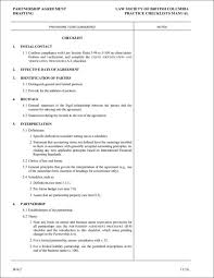 9+ Partnership Agreement Checklist Samples & Templates – Pdf ...