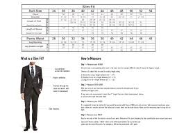 36 Suit Size Chart Black Leather Suit