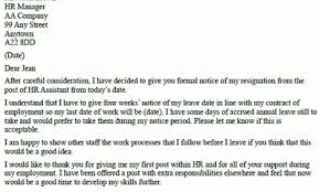 Hr Assistant Resignation Letter Example – Resignation Letter ...