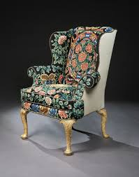 Ge Sso Login A George I Gesso And Needlework Wing Chair 4427421 C 1720