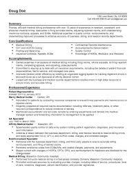 Fair Medical Billing Clerk Resume Samples Also Billing Clerk Job  Description for Resume