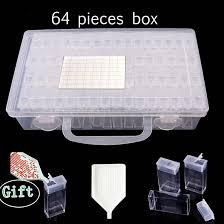 <b>28</b>/ 64 <b>Grids Plastic</b> Box Organizer <b>Medicine</b> Case diamond painting ...