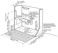 figure 4 2 9 1 shower stall design criteria for an accessible shower stall