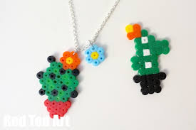 Cute Perler Bead Patterns Cool Cactus Crafts Hama Bead Jewellry Red Ted Art's Blog