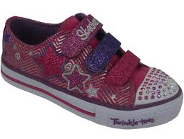 sketchers twinkle toe boots. skechers youths twinkle toes triple up velcro with lights- pink \u2013 eden shoes sketchers toe boots