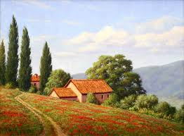 tuscany landscape painting google search