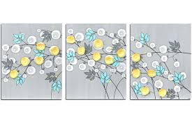 yellow and gray wall art wall art of gray and yellow flowers yellow and grey canvas